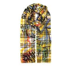 博柏利/BURBERRY 18年秋冬 通用 格纹 涂鸦 黄色 围巾 4075814