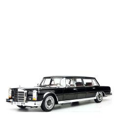 1966奔驰普尔曼s600加长版虎头奔合金仿真汽车模型摆件礼品图片