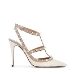 【奢品节可用券】Valentino/华伦天奴 铆钉搭扣漆皮尖头高跟鞋图片