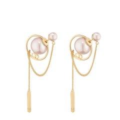 【包邮包税】DIOR/迪奥 19春夏新款Dior Tribales镀金金属和树脂圆珠耳环 (2色可选)E0956TRIRS_D304图片
