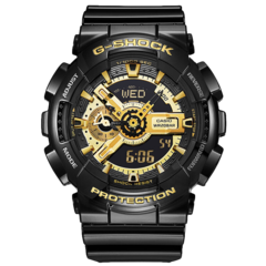 CASIO/卡西欧G-SHOCK系列大表盘双显黑金电子表多功能防震防水运动手表男GA-110GB-1A图片