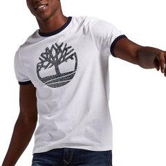 【包税】Timberland/添柏岚  户外男士圆领撞色品牌LOGOT恤 TB0A1LCB图片