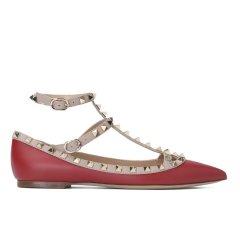 【奢品节可用券】Valentino/华伦天奴 ROCKSTUD 5 女士芭蕾鞋 MW2S0376 牛皮革图片