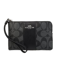 COACH/蔻驰 女士时尚PVC配皮经典LOGO印花手拿包手包零钱包女包 F58035 多色可选图片