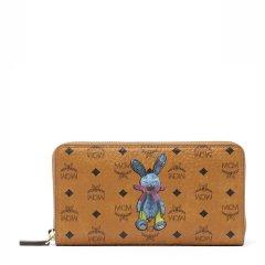 MCM/MCM 女士PVC小兔子图案印花长款拉链多卡位钱包钱夹 多色可选图片
