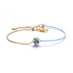 ENZO/ENZO 幸运手绳 托帕石 石榴石 9K金 宝石手链(多款可选)图片