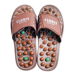 CLORIS/凯伦诗 德国CLORIS 足底按摩鞋 按摩拖鞋玉石弹灸养生拖鞋 男女家居保健鞋 CLORIS-M108棕色图片