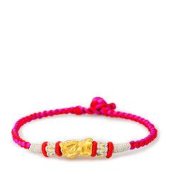 Magifas/Magifas 阿福 3D硬金貔貅造型 手工编织手链 黄金足金手链(情侣款)图片