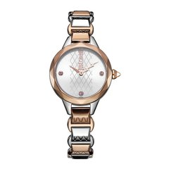 JUST CAVALLI/JUST CAVALLI 网红款 设问菱格闪电指针设计钢带防水石英手表女 jc手表图片