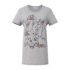 Iceberg/冰山 纯棉 卡通动物刺绣女士短袖T恤 IB2B4T003图片