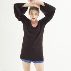 Zynni Cashmere 等级A半高精纯羊绒大喇叭袖时尚元素套衫SB8046图片