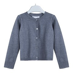 【18秋冬】BURBERRY/博柏利  女童海军蓝色棉质开襟衫 4011482 4Y图片