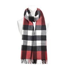 【17秋冬】 BURBERRY/博柏利 女士 其他织物 围巾 红色 经典格纹 百搭 MF 尺寸:200*36cm图片