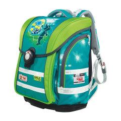 McNeill/McNeill德国进口减负护脊小学生书包轻便儿童双肩背包四件套4-6年级绿色足球图片