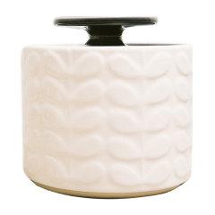 Orla Kiely 英国 白底凸印叶子纹理储物罐/收纳罐图片