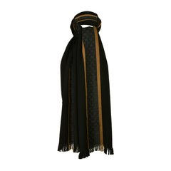 GUCCI/古驰男士多色双Glogo围巾162226 黑色图片