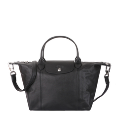 Longchamp/珑骧 LE PLIAGE CUIR 女士小号羊皮折叠式经典饺子包/单肩包/手提包 1512图片