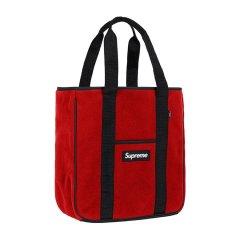 Supreme 18FW Polartec Tote bag 抓绒 手提包托特包 单肩包图片