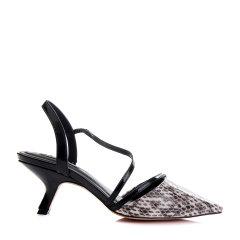 Benative/本那 时尚优雅 皮质拼接高跟凉鞋BN01723964图片