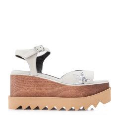 【Designer Shoes】【包税】Stella McCartney/斯特拉·麦卡特尼 Elyse女士仿皮革松糕厚底多色  坡跟凉鞋 453590W0781白色 36图片