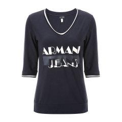 ARMANI JEANS/阿玛尼牛仔女士T恤-女士牛仔系列短T恤95棉5氨纶图片
