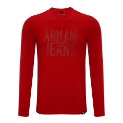 【17秋冬新款】ARMANI JEANS/阿玛尼牛仔男士长袖T恤-男士牛仔系列T恤95棉5氨纶图片