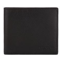 COACH/蔻驰男士牛皮革时尚纯色对折短款钱包钱夹F75084图片