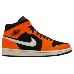 Air Jordan 1 Mid小扣碎小黑红AJ1男女鞋554724-054-062图片