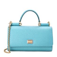 Dolce&Gabbana/杜嘉班纳钱包-女士浅蓝色时尚皮票夹 材质:牛皮图片
