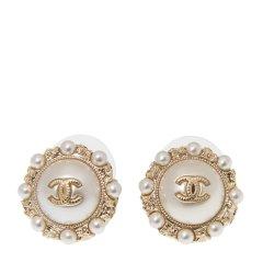 【包税】Chanel 香奈儿 【18春夏】女士金色金属圆环logo耳饰耳钉图片