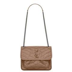 【包邮包税】Yves saint Laurent/圣罗兰  新款明星同款BABY NIKI女士牛皮链条斜挎包(7色可选)图片