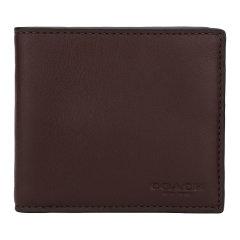 COACH/蔻驰 男士Saffiano皮革短款钱包 75084图片