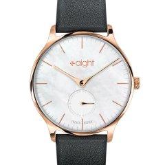 【法国品牌】AIGHT/AIGHT手表简约时尚情侣表轻薄商务石英女士手表 黑色皮带A2830V2图片