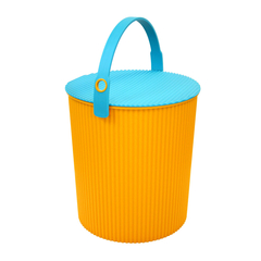 日本进口儿童玩具桶   防潮防尘密封收纳桶    利快Hachiman多功能带盖储物桶凳  户外钓鱼桶水桶冰桶 (10-20升)(9大功能 食品级材质)图片