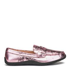 COZY STEPS/COZY STEPS 蟒蛇纹牛皮女士平跟鞋图片