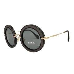 MiuMiu/缪缪 复古镶钻圆框太阳镜女 SMU08RS 49mm 街拍摩登板材金属全框墨镜眼镜图片