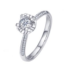 Magifas/Magifas 独宠一生 0.8ct/0.7ct H色 VS2 VG 18K金钻石戒指 订婚结婚戒指 订制款工期约15-20天图片