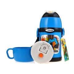 ZOJIRUSHI/象印儿童水壶吸管水杯子不锈钢真空保温杯保冷杯双盖两用 泰国进口450ML SC-ZT45图片
