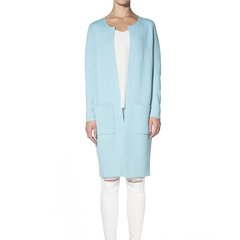 Zynni Cashmere 重工双面双色半精纺羊绒大衣2239A图片