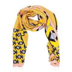 【包税】FENDI/芬迪  女士多色丝巾 FXT085005ODF0Q黄色 长方形图片