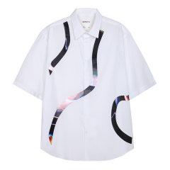 DEPOT3/DEPOT3男装品牌数码拼条男士短袖衬衫图片