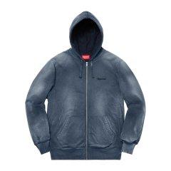 Supreme 18FW Bleached Zip Up sweatshirt水洗拉链卫衣帽衫图片