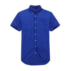 GANT/甘特 男士2017夏季新品净色纯棉短袖衬衫 男士短袖衬衫 394011图片