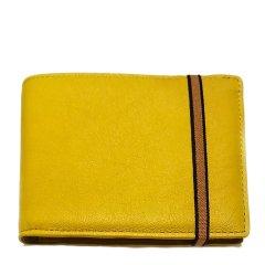 男装黄色皮革折叠钱包  CRLA901YL图片
