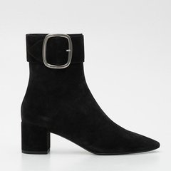 SAINT LAURENT PARIS/SAINT LAURENT PARIS 18年秋冬 女性 ysl 方跟鞋 绒面 短靴 5320310LI002330图片