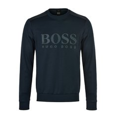 【包税】HUGO BOSS/雨果波士 男士新款深色系棉质BOSS标时尚休闲长袖T恤卫衣图片
