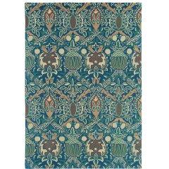 Morris&Co. 英国纯手工羊毛地毯地垫 客厅卧室方形毯 欧式古典主义风|英国百年设计品牌 蓝色 2M*2.8M图片