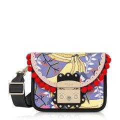 FURLA/芙拉 女士多彩图案花边装饰时尚印花小方包单肩包斜挎包链条包 多色可选 女包图片
