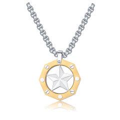 【Designer Jewelry】brosway/宝思薇意大利设计OCEAN系列吊坠男士钛钢项链配饰BOE01 送男友图片