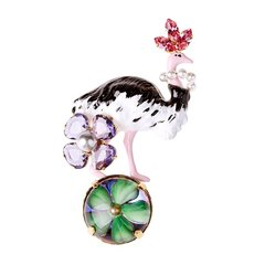 Philippe Ferrandis/Philippe Ferrandis 法国时尚配饰 火烈鸟系列镀金胸针 造型别致图片